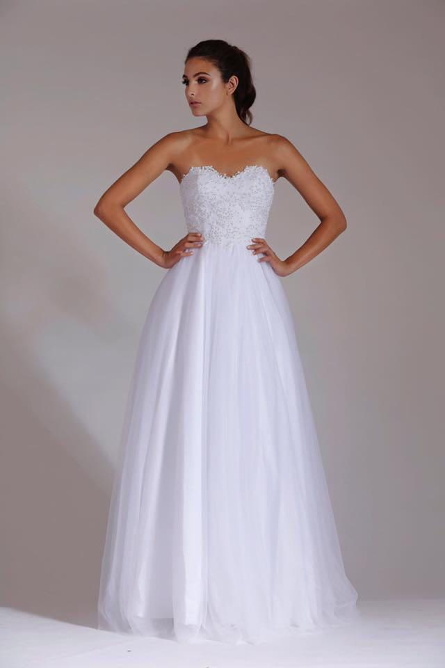 Deb dress - great condition, RRP - $550, corset back, - size 8-12