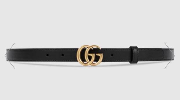 Double G leather belt Gucci authentic