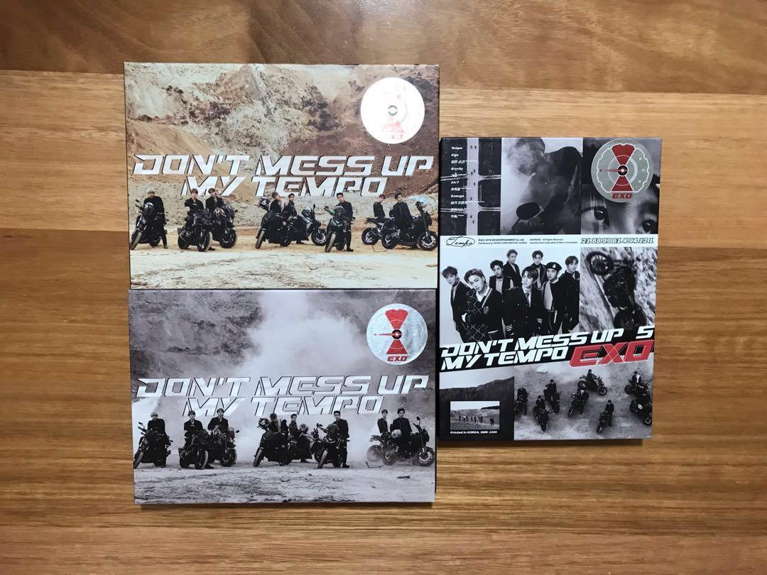 EXO 5th ALBUM DON'T MESS UP MY TEMPO FREE SHIPPING