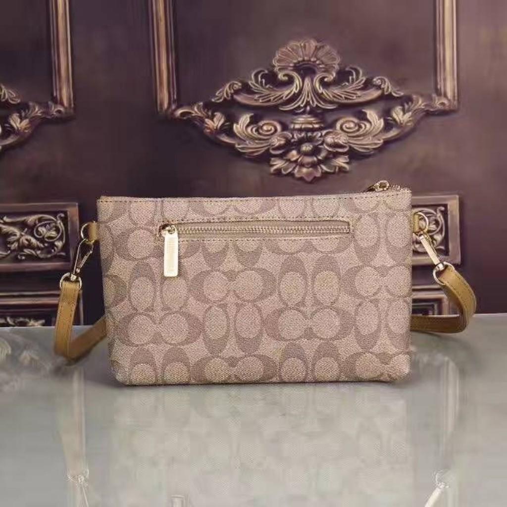 Fashion Coach Jacquard Clutch/Sling handbag women