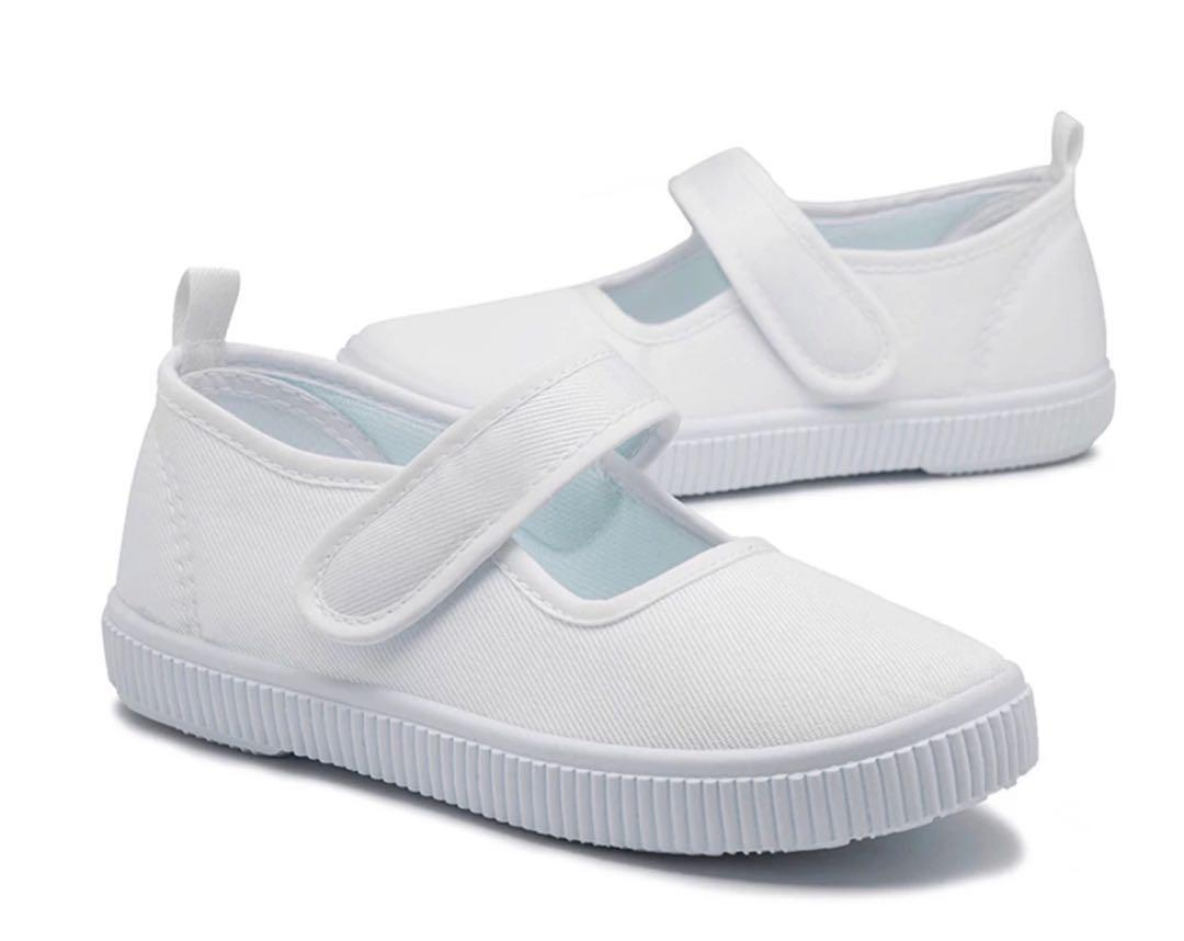 all white school shoes
