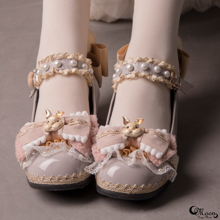 532b0d1ba79d  GM fluffy rabbit  lolita women s shoes Lolita Japanese original hand made  comfort platform