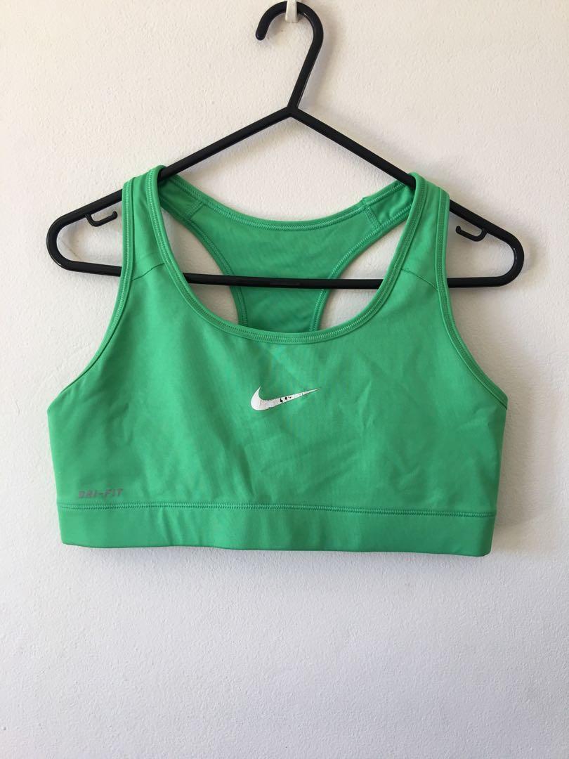 Green Nike Bra Top