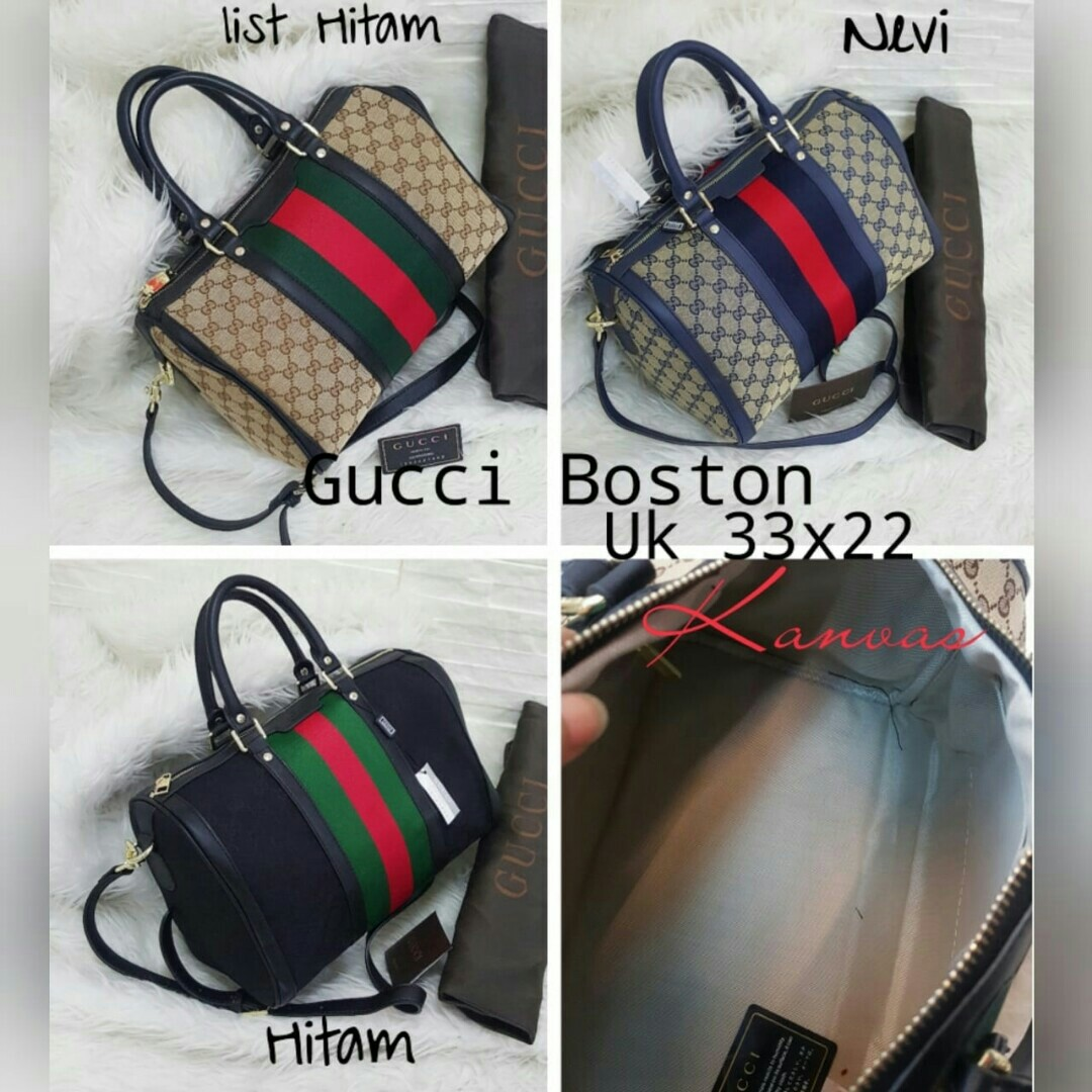 717729cf8b9a Gucci boston kanvas, Luxury, Bags & Wallets on Carousell
