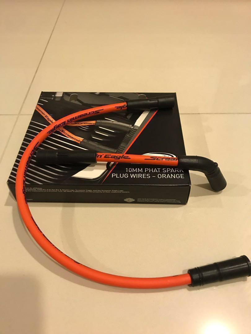 Harley Davidson Screamin Eagle Spark Plug Wires (Orange ... on harley davidson vacuum lines, harley davidson spark plugs, harley davidson springs, harley davidson distributor, harley davidson coil, harley davidson battery, harley davidson shifter, harley davidson ignition, harley davidson fuel injectors, harley davidson fuel pump, harley davidson knock sensor, harley davidson water pump, harley davidson radiator, harley davidson ecm, harley davidson muffler, harley davidson rotor, harley davidson fuses, harley davidson oil, harley davidson filters, harley davidson oxygen sensor,