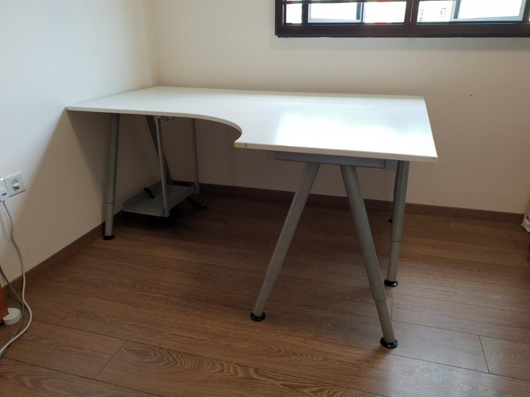 Ikea Galant White Corner Desk Furniture Tables Chairs On Carousell