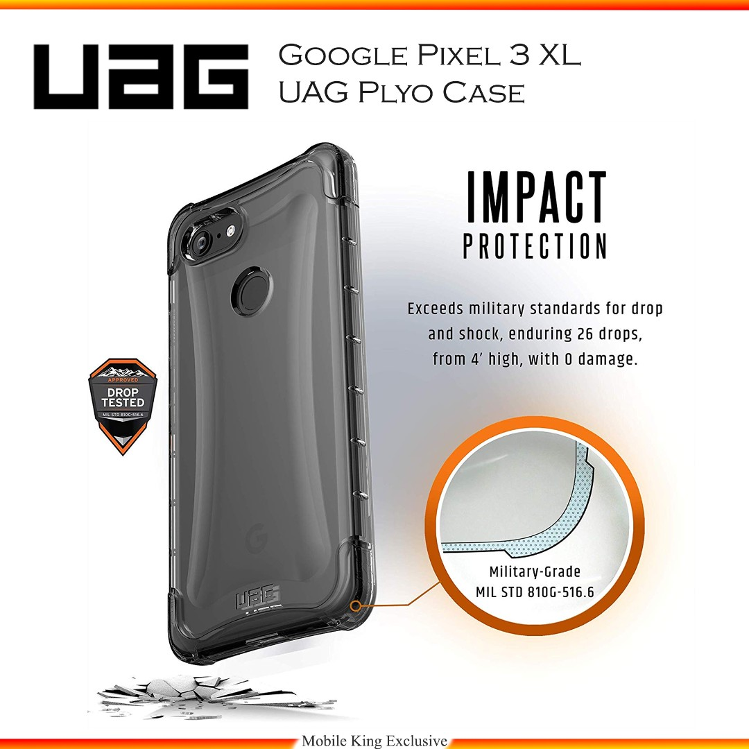 newest b5f37 b3277 [InStock] Google Pixel 3 XL UAG Plyo ICE Crystal Clear Case Military Grade  Protection