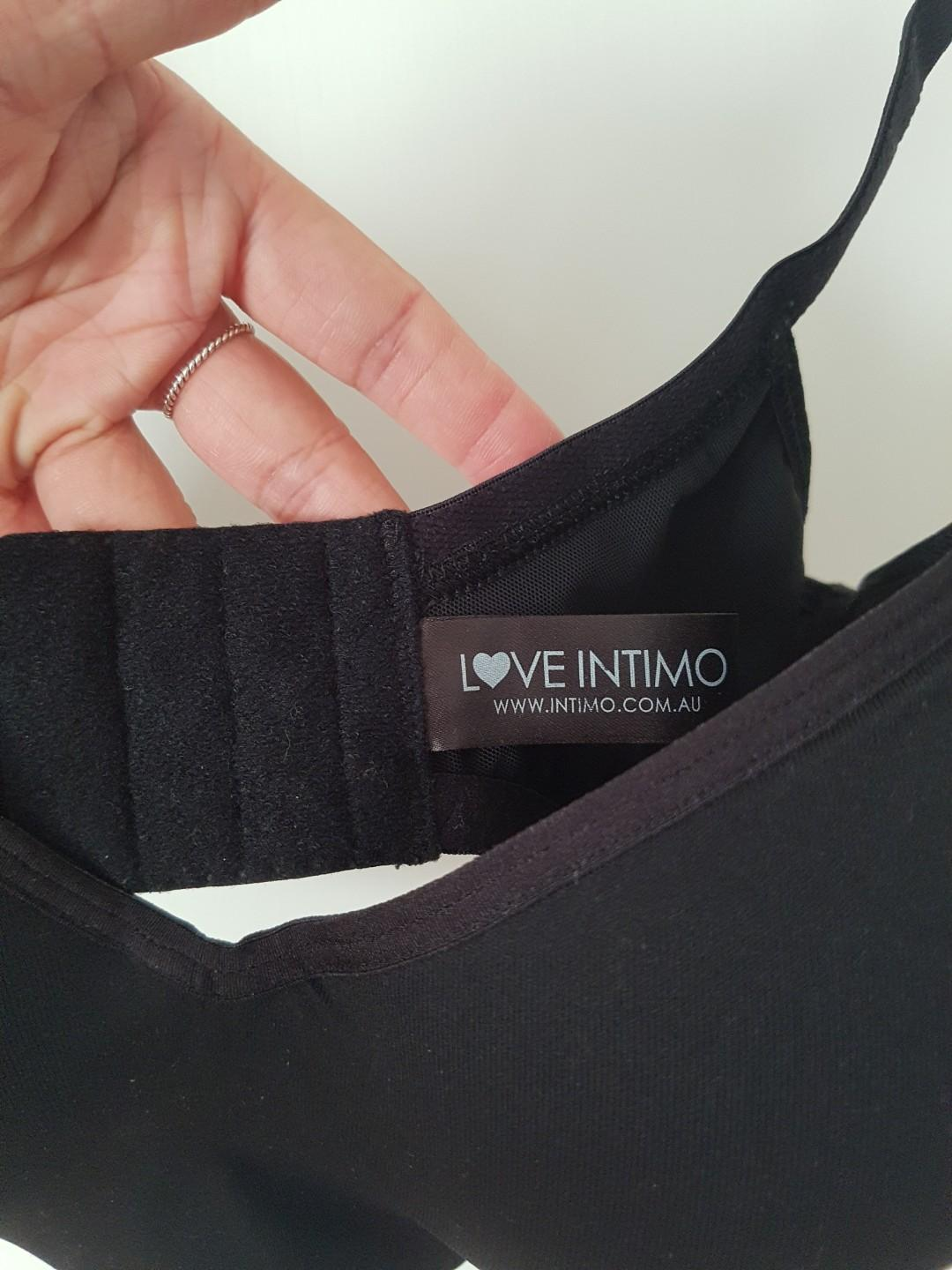 Intimo Womens T Shirt Miracle Contour Bra Red Black size 12E RRP $99.50