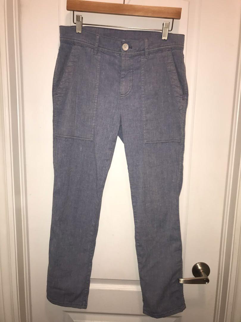 James Perse blue cotton straight leg pants - size 25