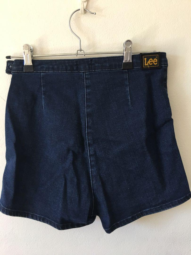 Lee High Waist Indigo Denim Shorts