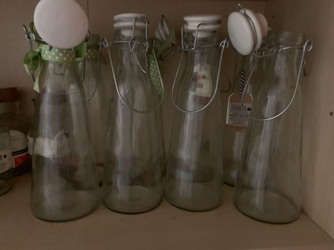 Lot of 18 NEW Decorative Vases Jars & Milk Bottles