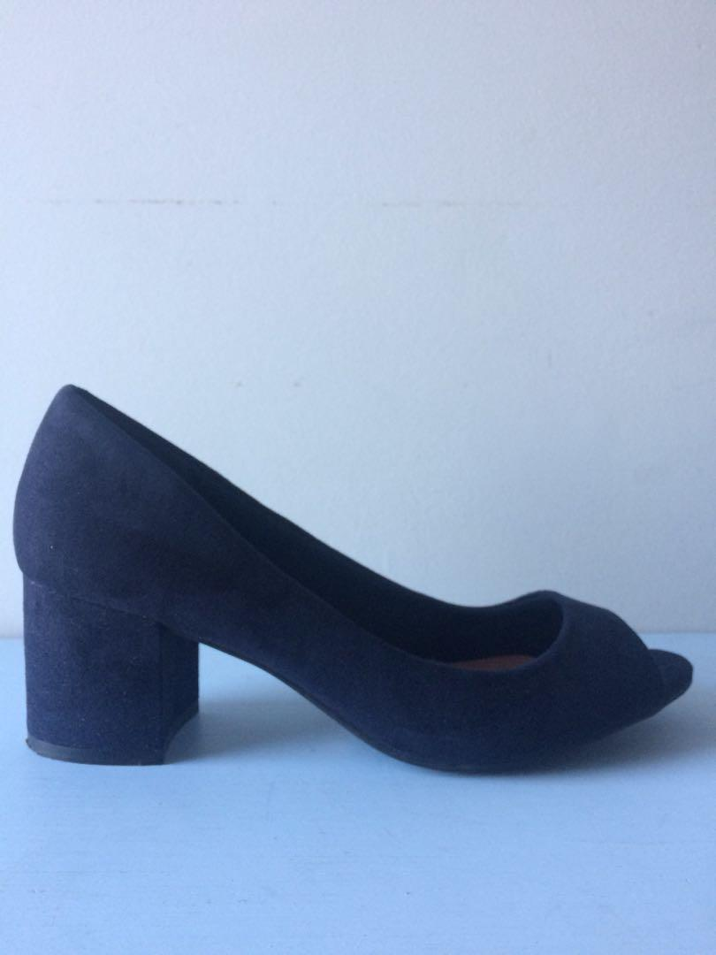 Mark & Spencer Suede Navy Women Shoes