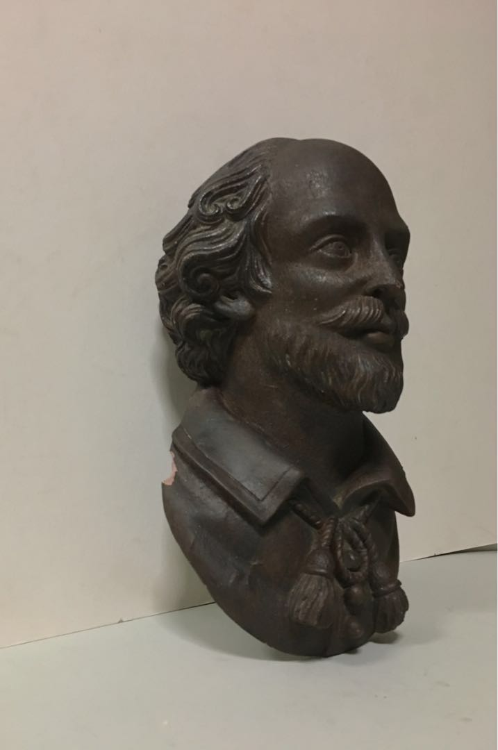 Monumental Terracotta Bust of Playwright William Shakespeare ... 5abf4403c1