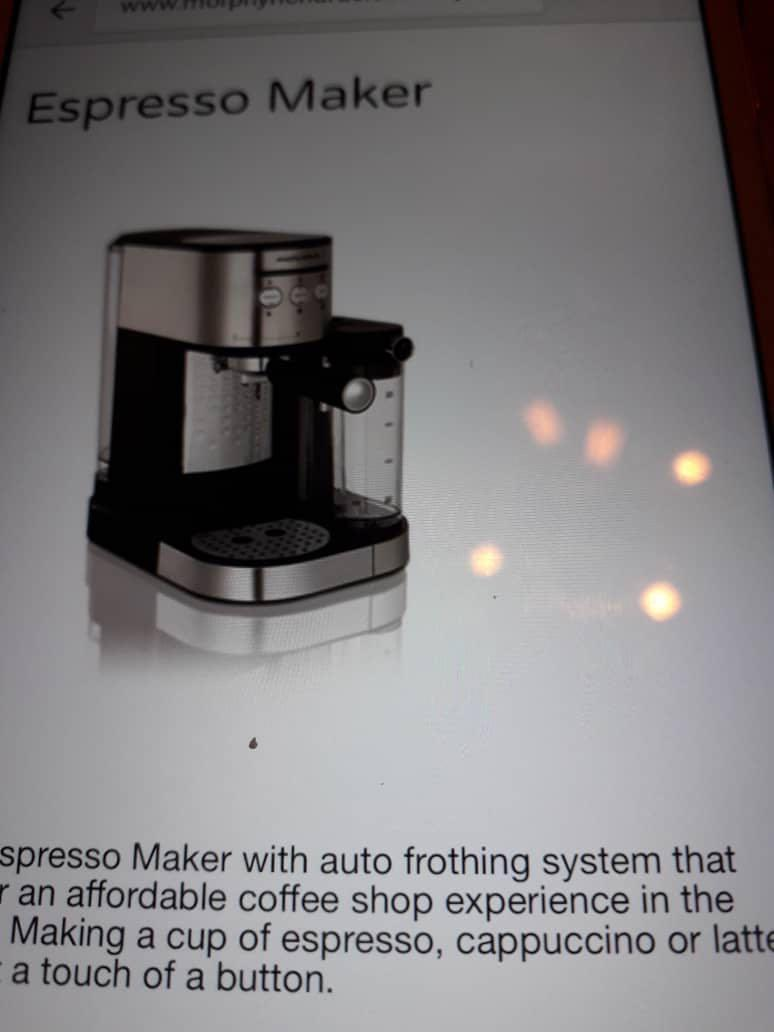 Morphy Richards coffee maker 172251