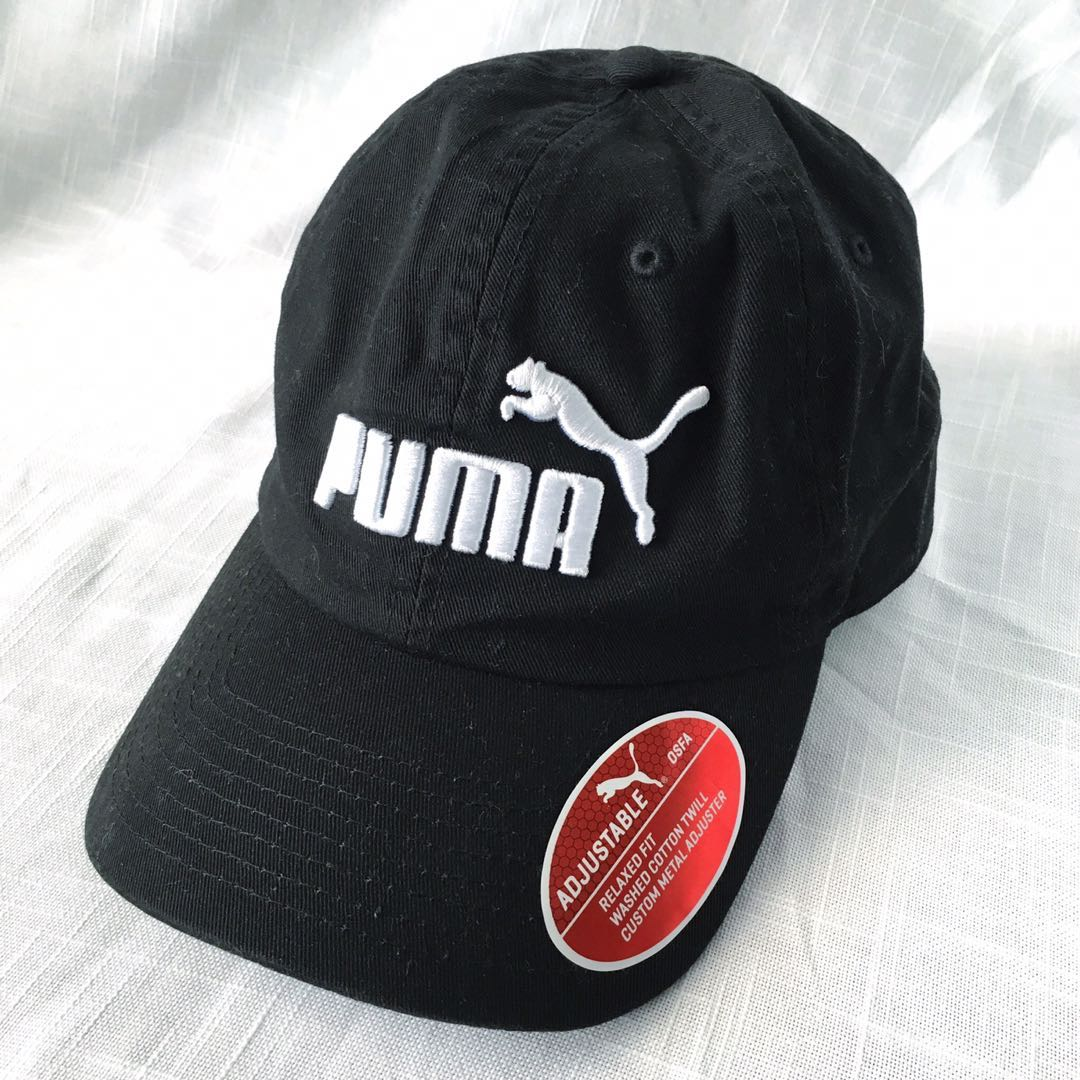 aeb1290baff NEW! Authentic Puma Men s Black Strapback Cap   Hat (One Size ...