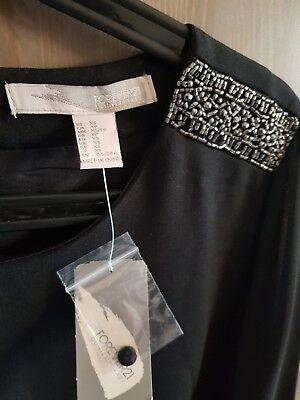 New Black FOREVER 21 Long Sleeve Cocktail Races Party Dress Size 6-8 XS S