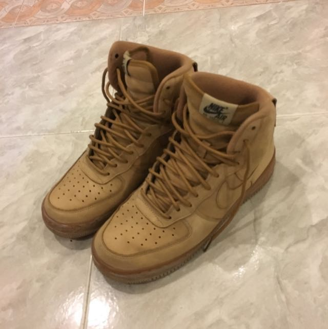 wholesale dealer f4db9 1dfde Nike Air Force 1 Wheat Flax High, Men s Fashion, Footwear, Sneakers ...