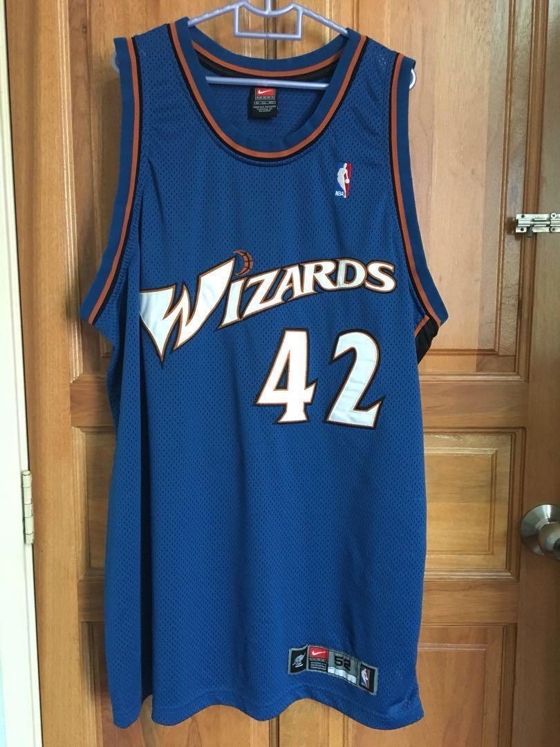 purchase cheap e5134 ae2f6 Nike NBA authentic Wizard Jerry Stackhousr jersey, sz 52
