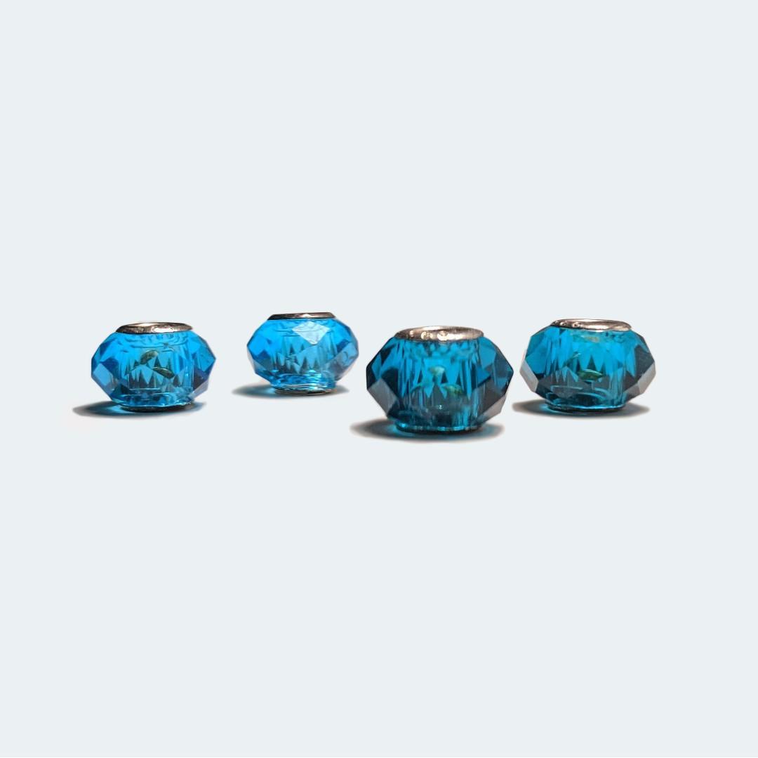 Pandora-Mask 2-Blues Artificial Gem Charms - Sky & Royal Blue