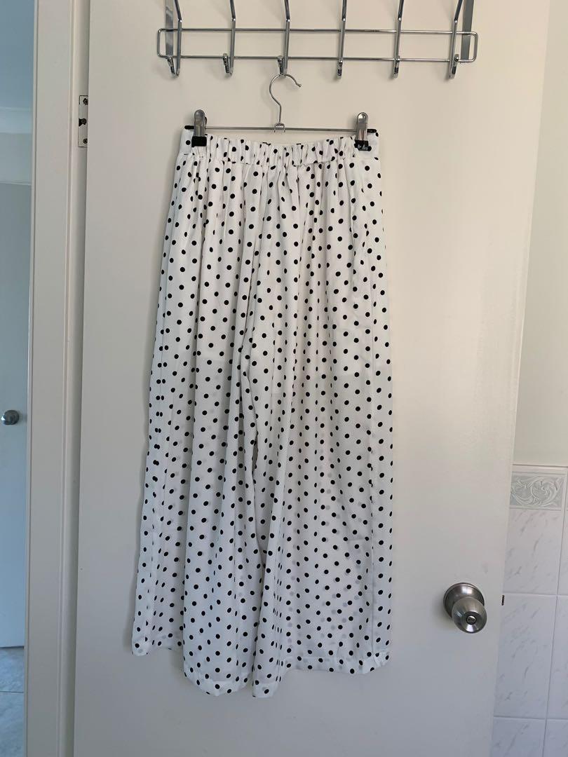 Polka Dot Matching Set White