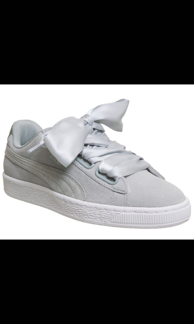 sports shoes 95820 7ed88 PUMA Suede Heart trainers in grey