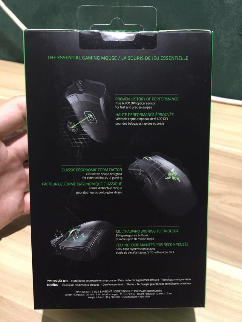 Razer Deathadder Essential 2018, Electronics, Computer Parts