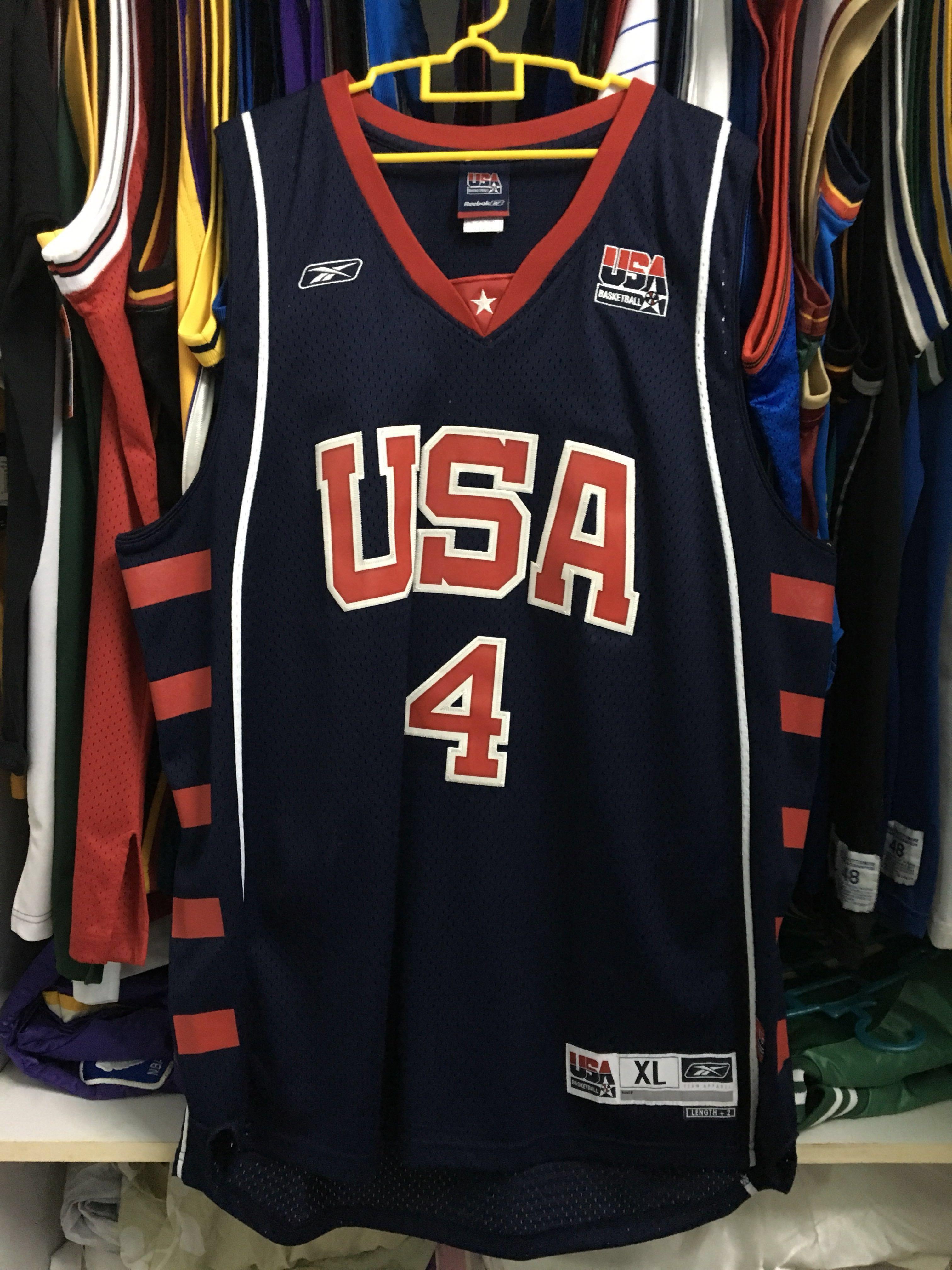 Reebok Basketball NBA Allen Iverson Team USA jersey XL b9a5005a2