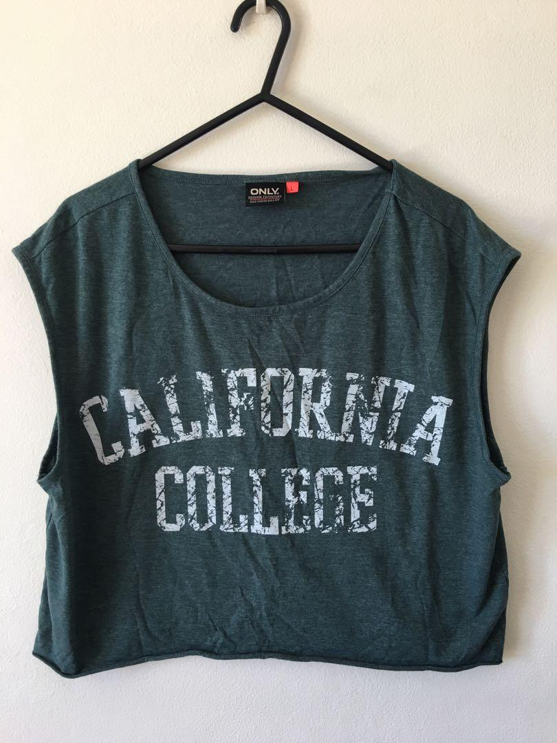 Retro Cropped Muscle Tank California College