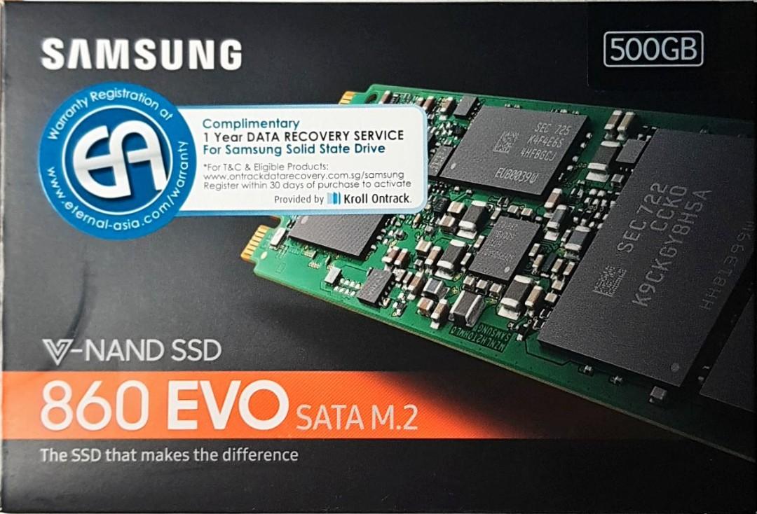 Samsung M 2 SSD 512GB