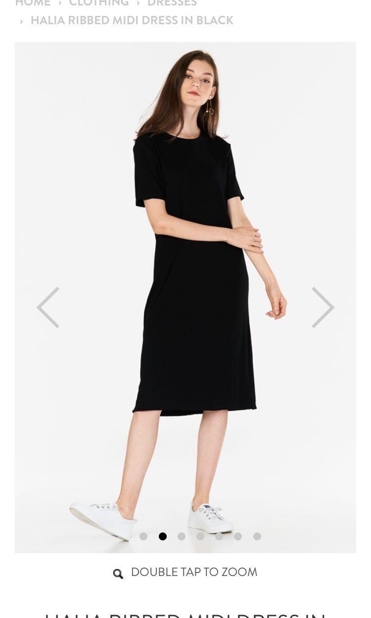 33b161281cd9 The closet lover Halia ribbed midi dress