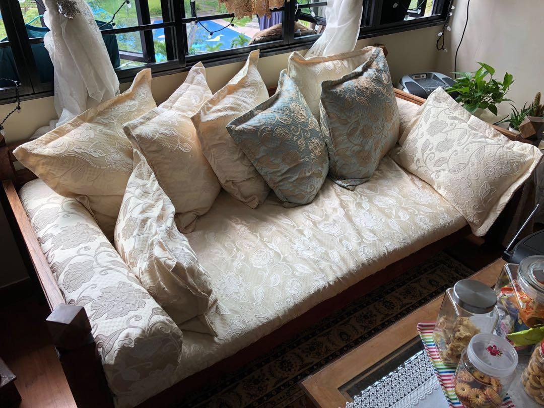 Upholstery, sofa covers, cushions