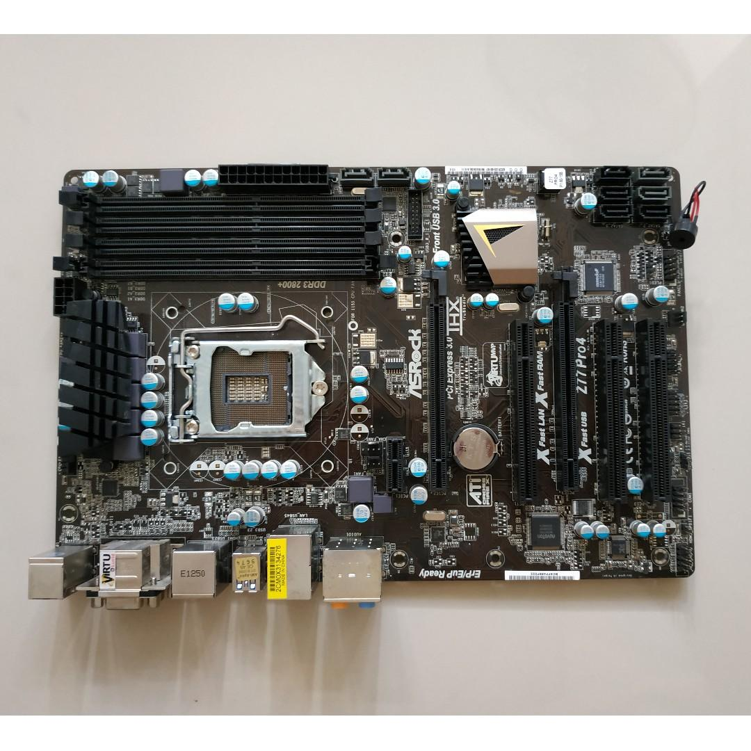 USED - ASRock Motherboard Z77 Pro4 (LGA 1155 socket) Intel