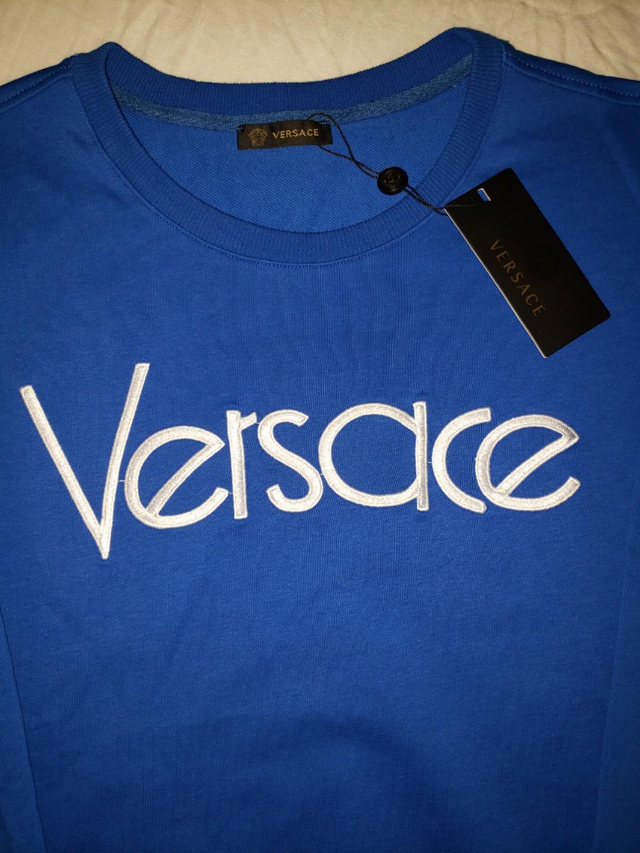 Versace Men's Logo Typographic Sweatshirt NEW! (Size Lg)