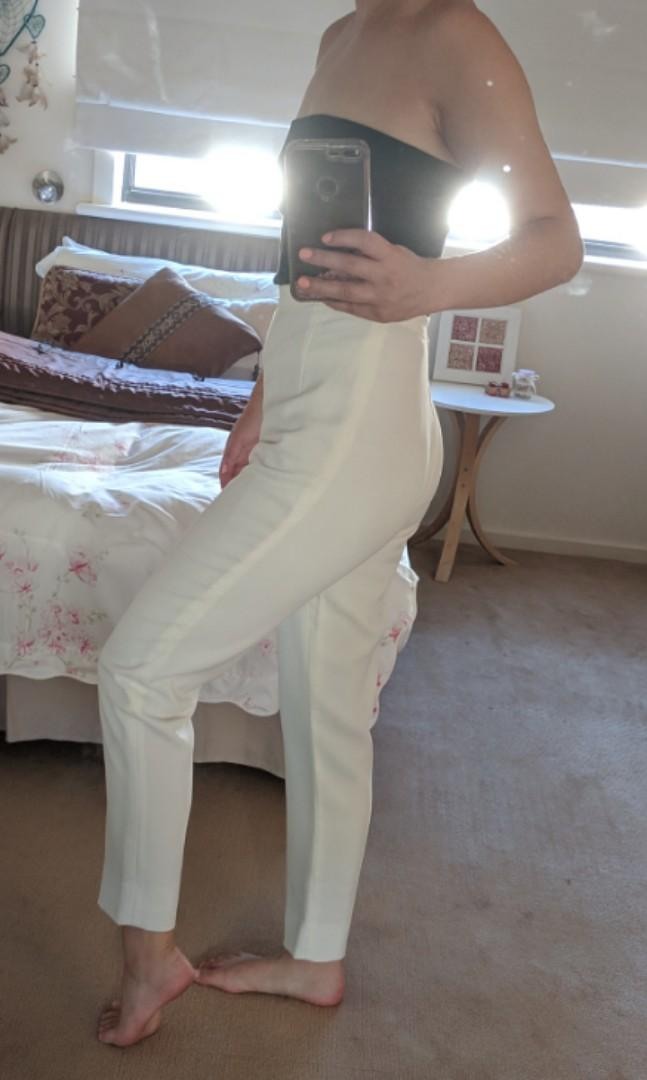 Vintage white crepe pants