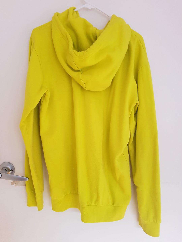 WeSC Yellow fluoro hoodie size S