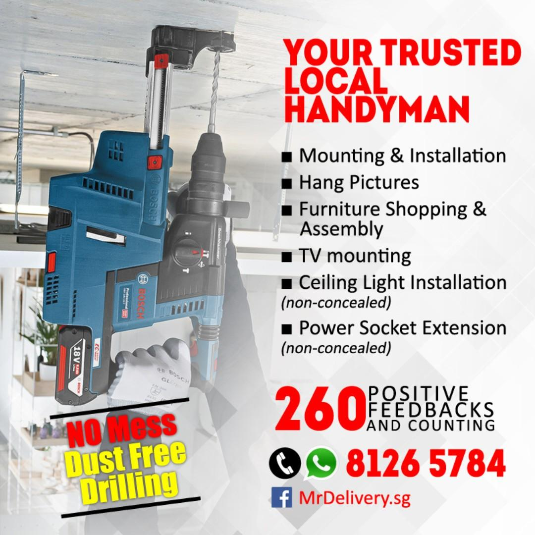 Your Trusted, Local Handyman for Installation and Drilling Services