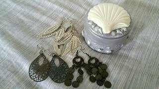 Earrings & Jewellery Box