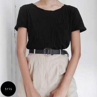 H&M BLACK LOOSE T-SHIRT