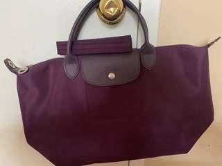 New! Authentic!Longchamp Neo medium bilberry crossbody/ tote