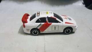 Tomica Mitsubishi Lancer Evolution IV Rally rivet loose *detailed *JDM *sporty *EVO *racing not hotwheels