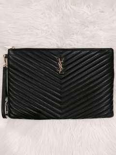 YSL MONOGRAM POUCH LARGE