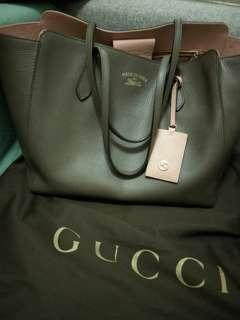 752a396a6fd Gucci Swing Tote Brown Pink