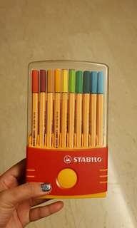 Stabilo Colour set pens