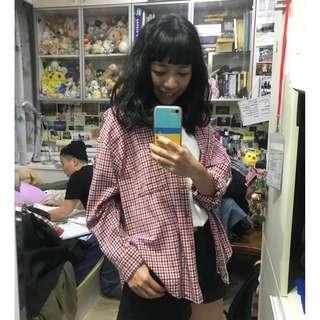 🚚 7成新!韓國購入版超美版型連袖襯衫