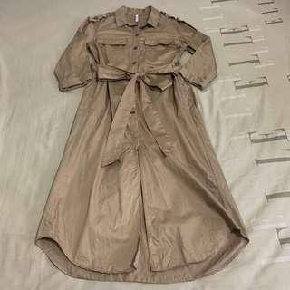 ZARA Beige Shirt Dress