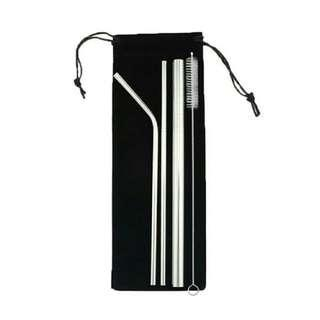 Stainless Straw Set of 4 (FREE POUCH!!!)