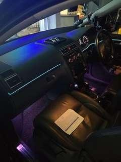 Customized interior ambient optic lighting for all car model