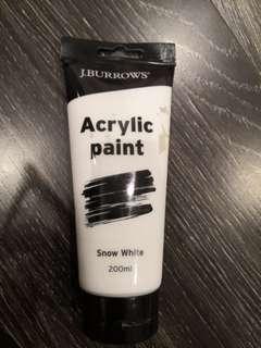 White acrylic paint