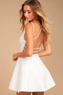 Lulus Backless Skater Dress