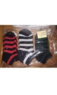 間條款毛巾船襪 一包(10對)